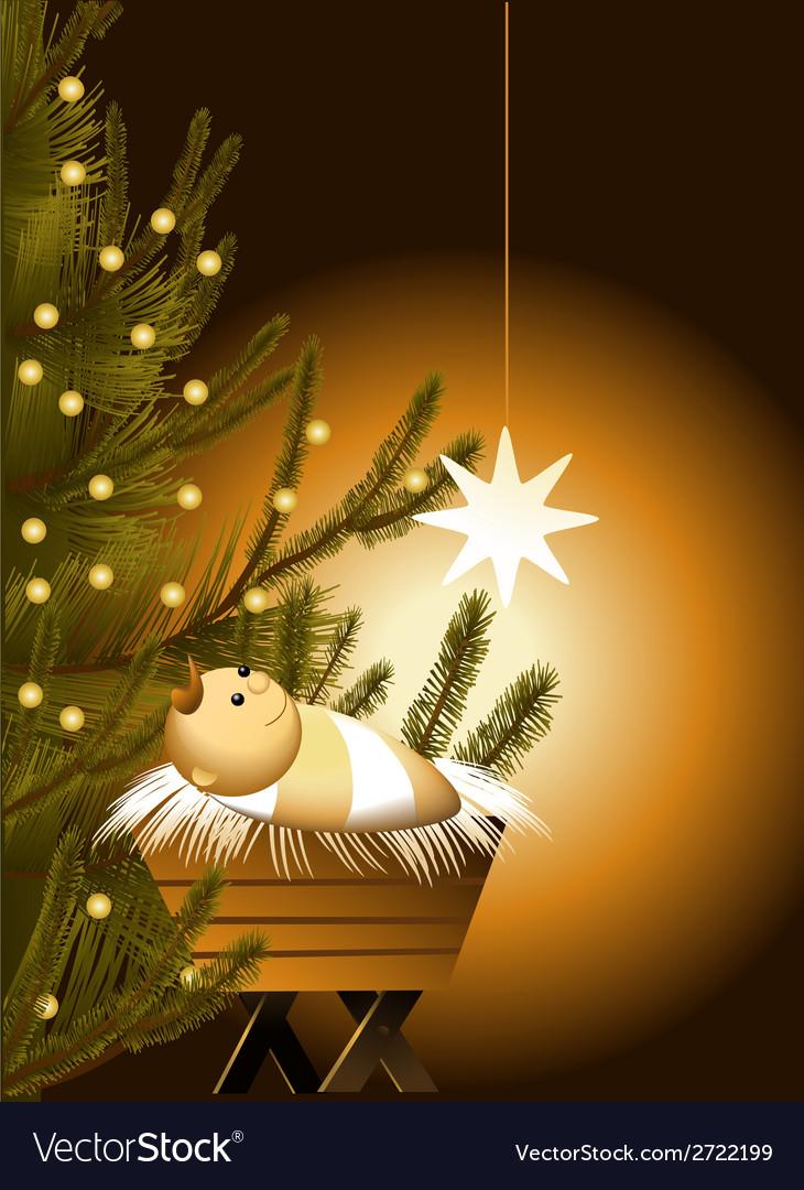Christmas Scene.Christmas Scene With Baby Jesus