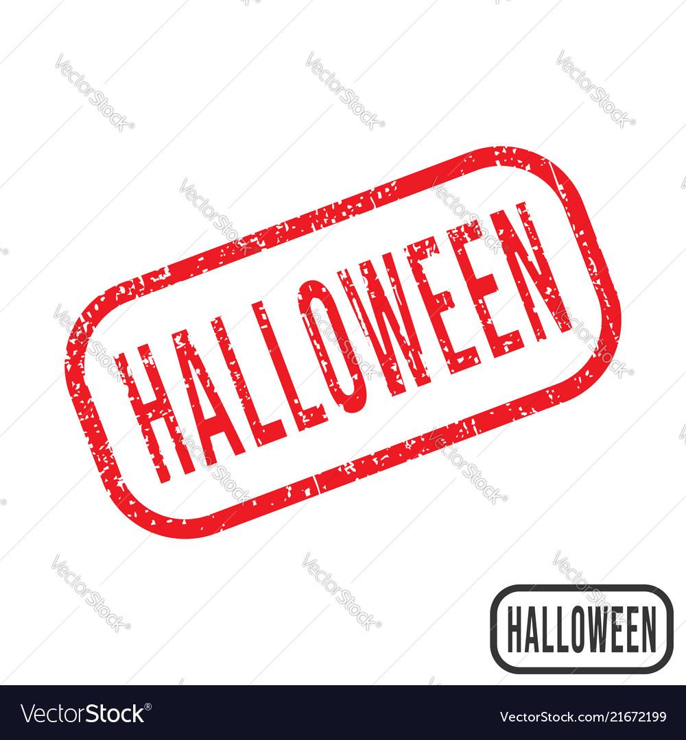 Halloween rubber stamp with grunge texture design