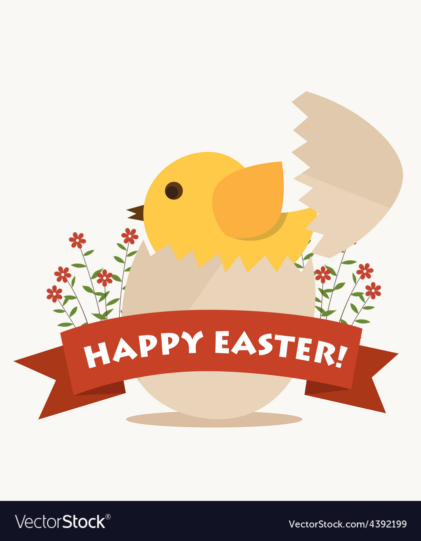 Happy easter cards with easter egg