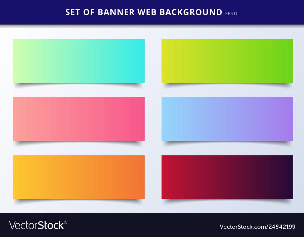 Set banner web template header design vibrant