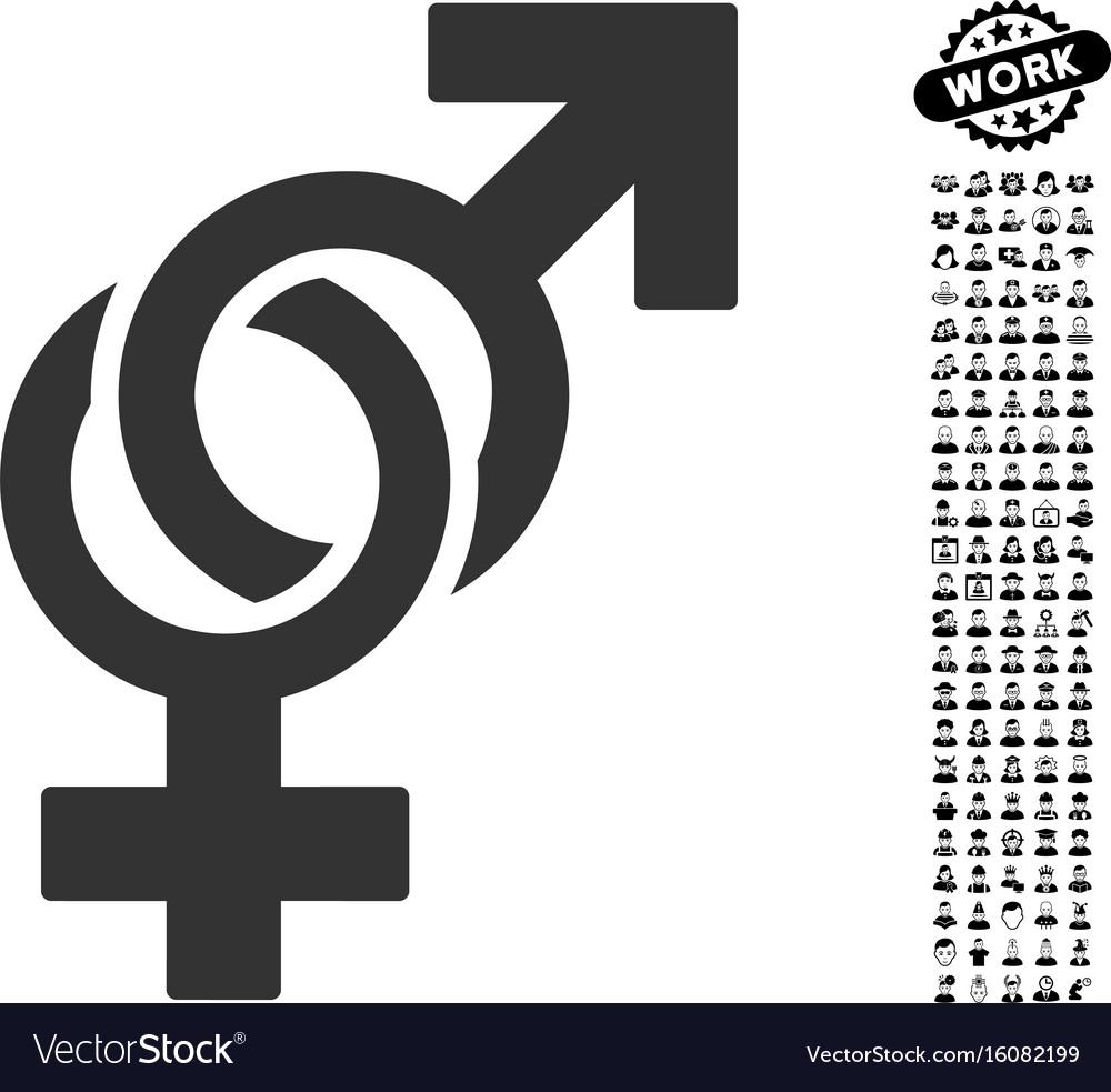 Sexual symbols icon with professional bonus