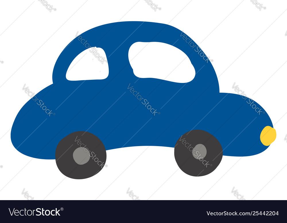 A Blue Colour Car Or Color