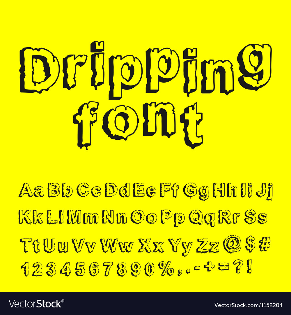 Abstract dripping font