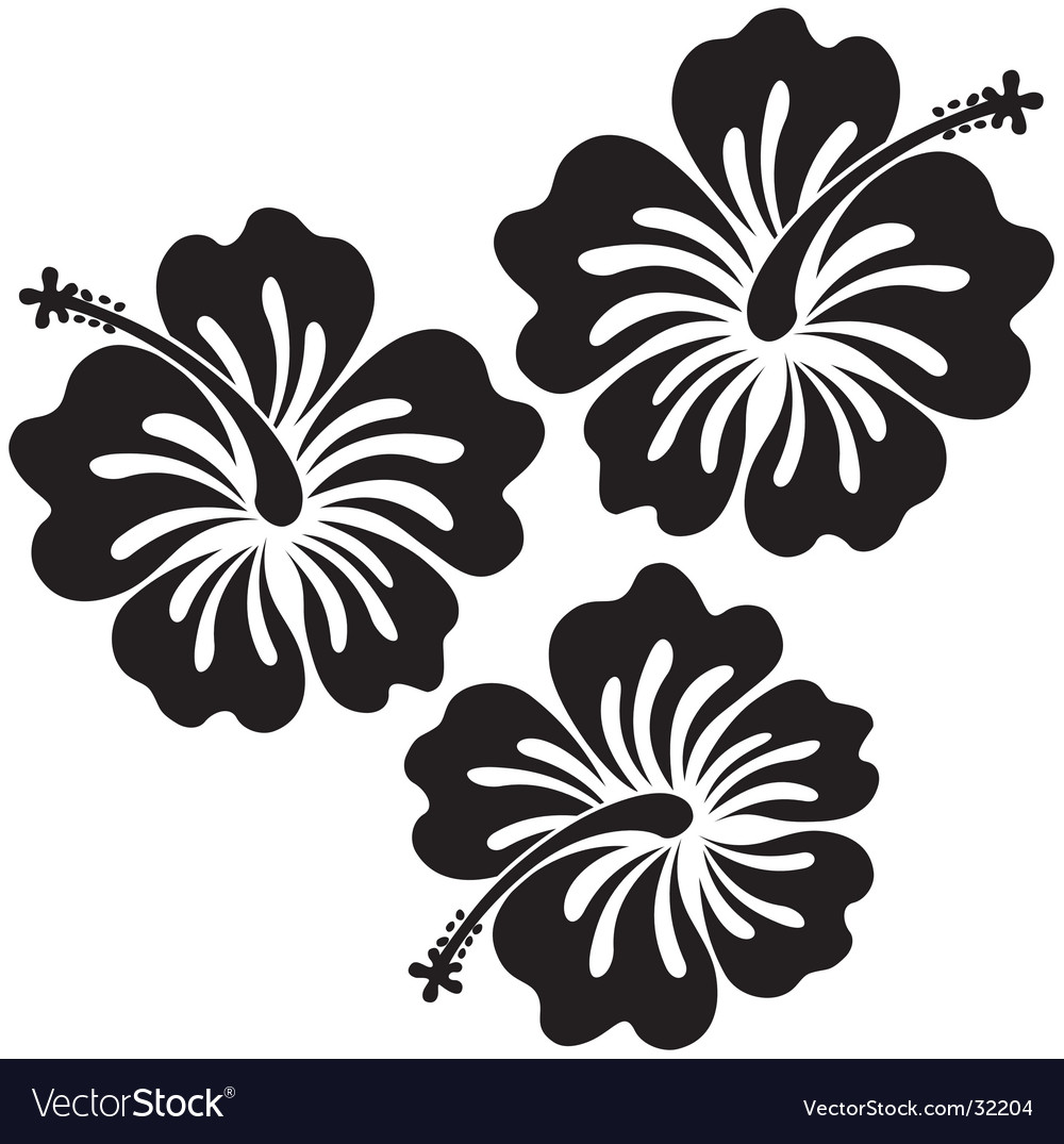 Tribal Tattoo Turtle And Flower Hibiscus Stock Vector 77253736