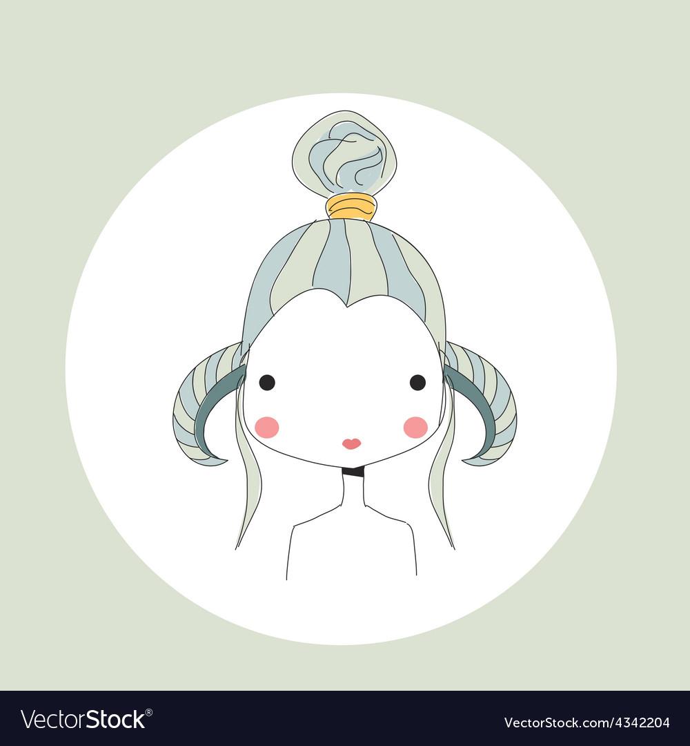 Horoscope Aries sign girl head