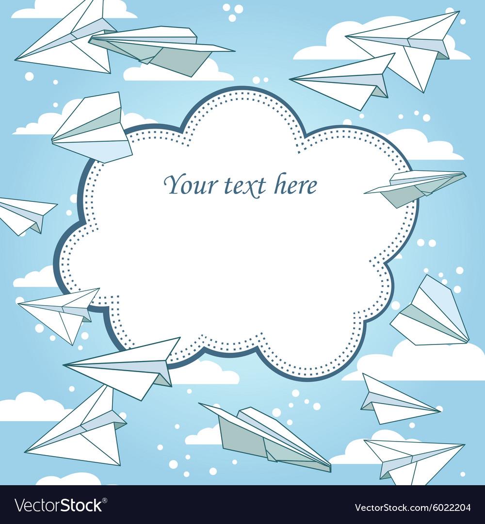 Paper planes frame