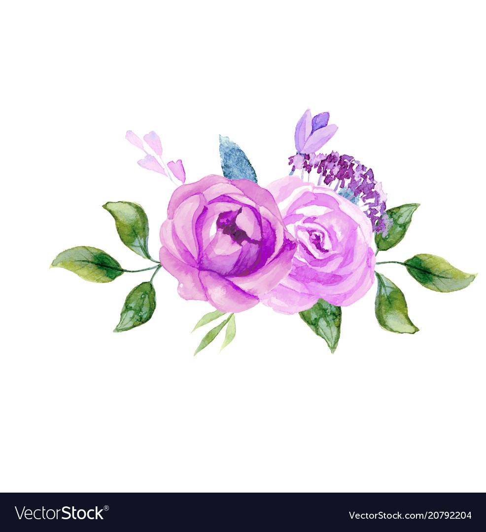 Set of the floral arrangements