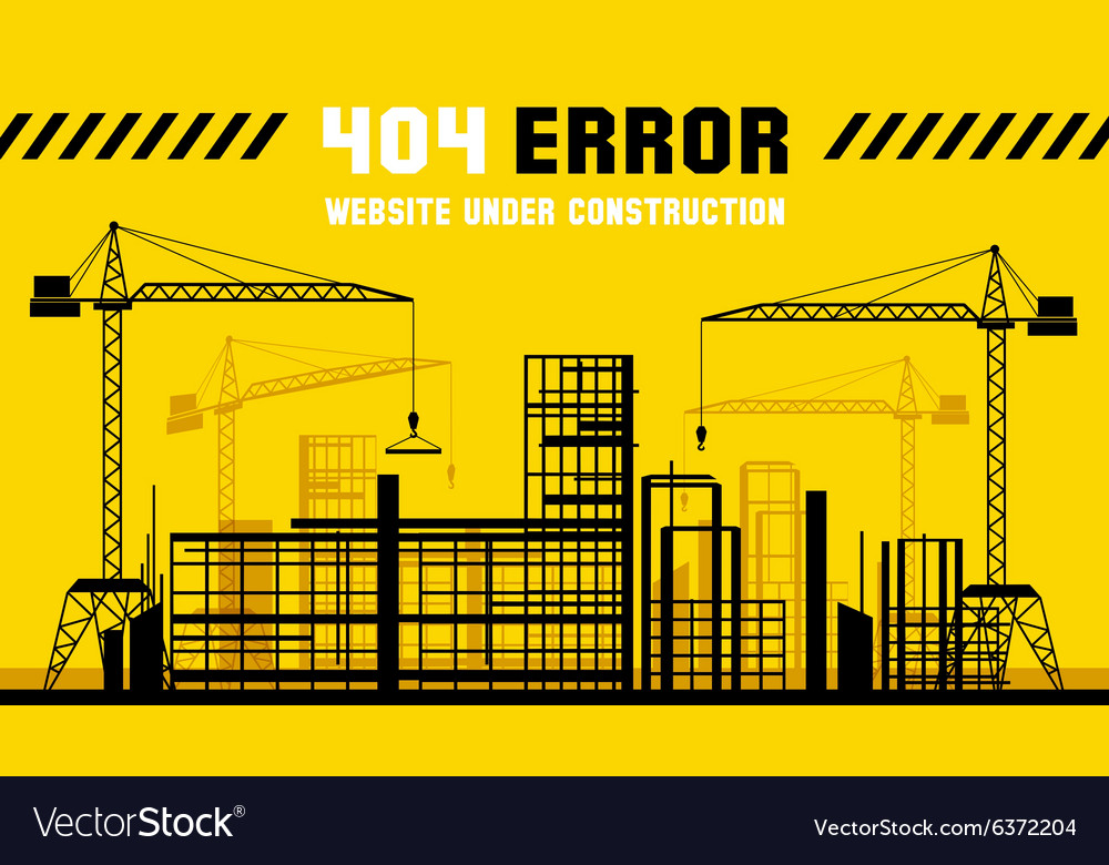 Under Construction site 404 page template