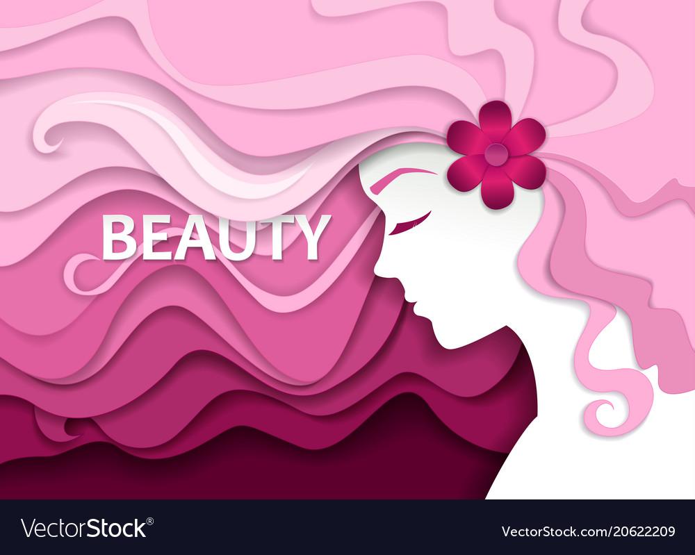 Beauty salon in paper art
