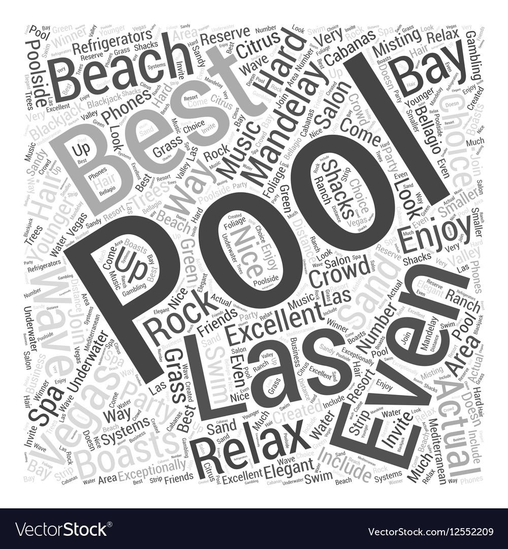 Best Pools in Las Vegas Word Cloud Concept vector image