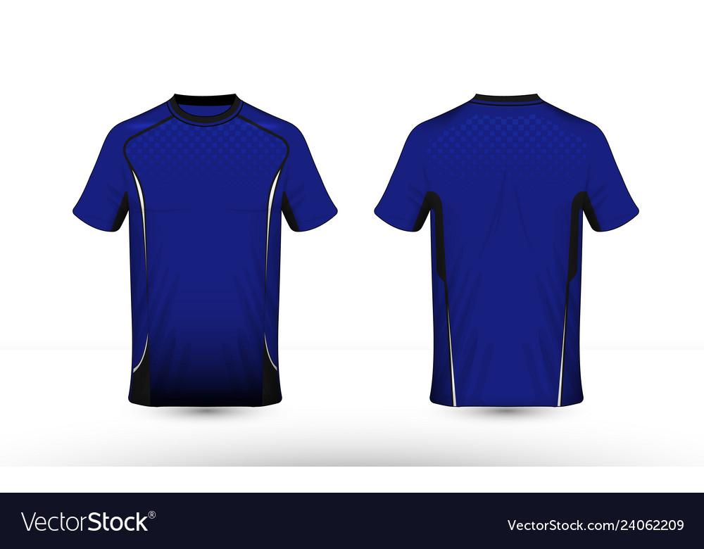 Blue white and black layout e-sport t-shirt