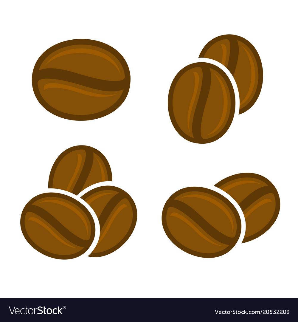 Coffee beans icon set