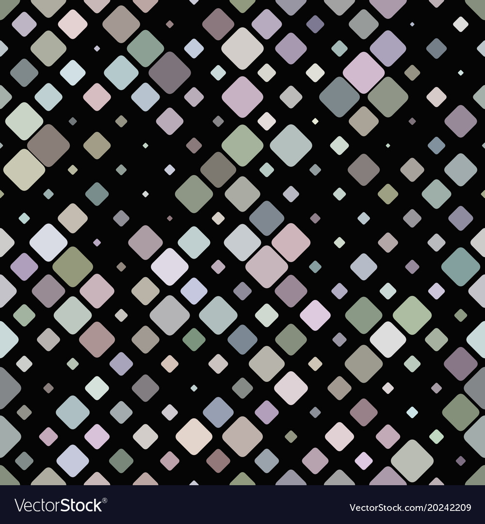 Colorful repeating diagonal square pattern vector image