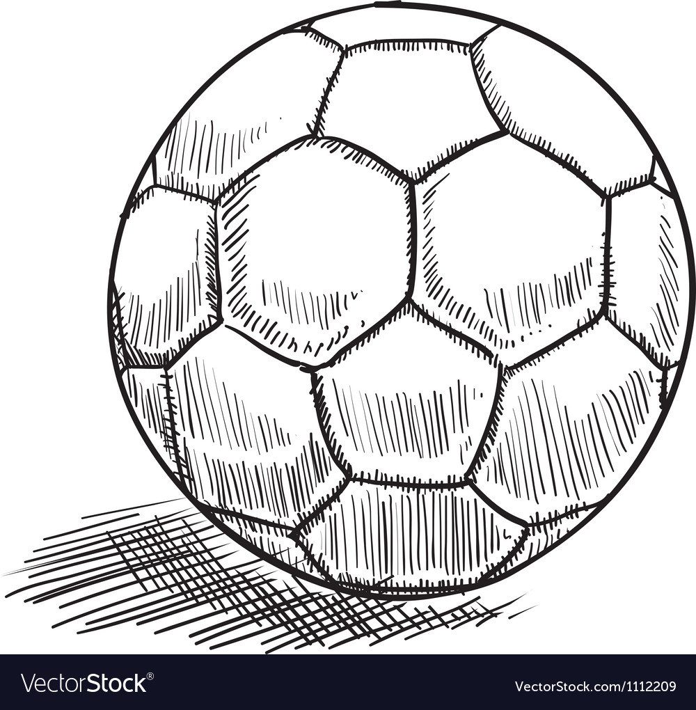 Doodle soccer football vector image
