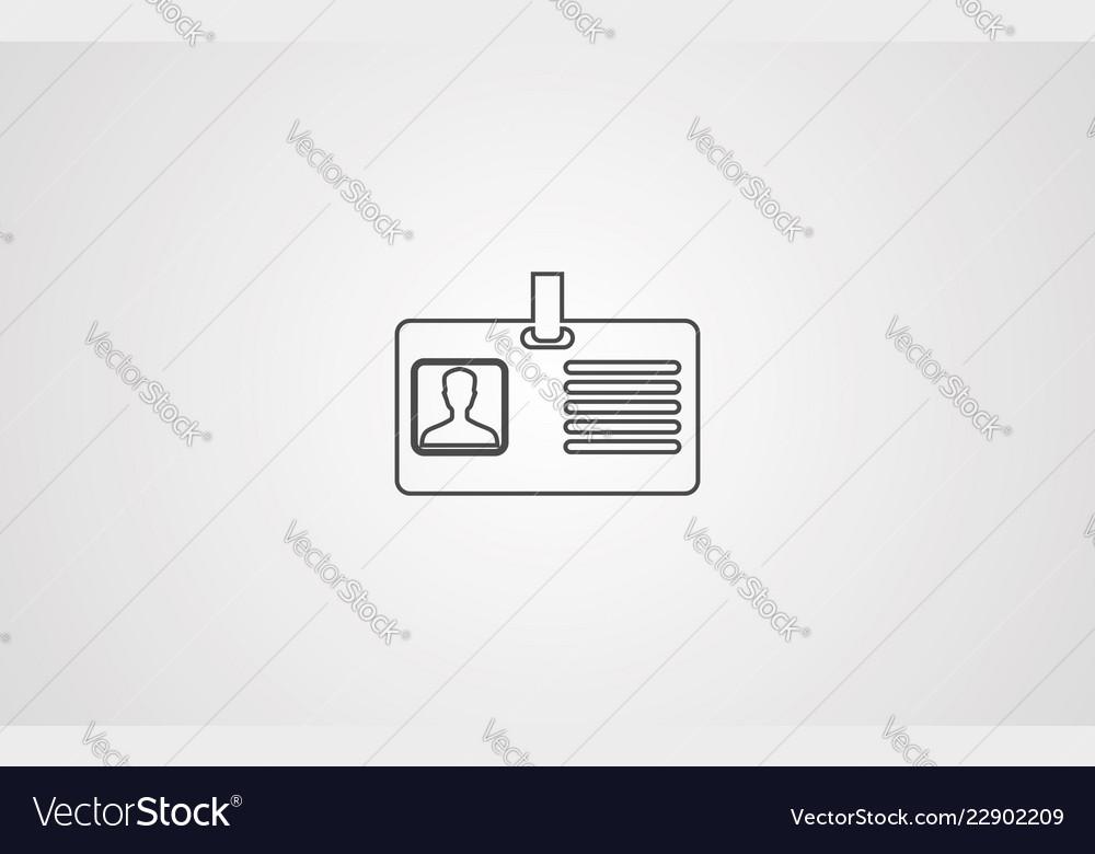 Id card icon sign symbol