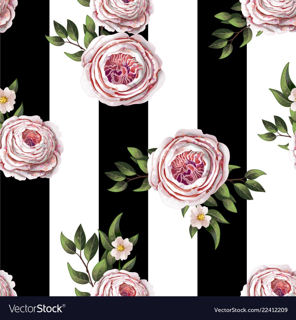 Pink english roses seamless pattern