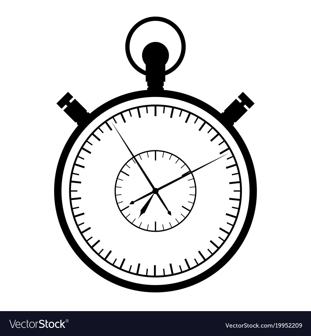 Stopwatch on a white background