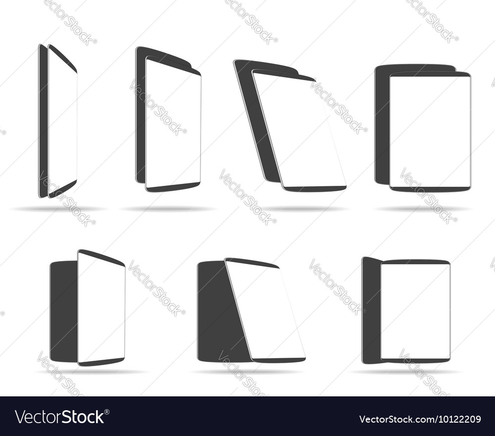 Template screen tablet PC vector image