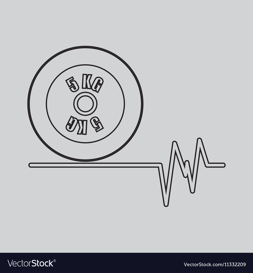Weight dumbbell fitness gym icon