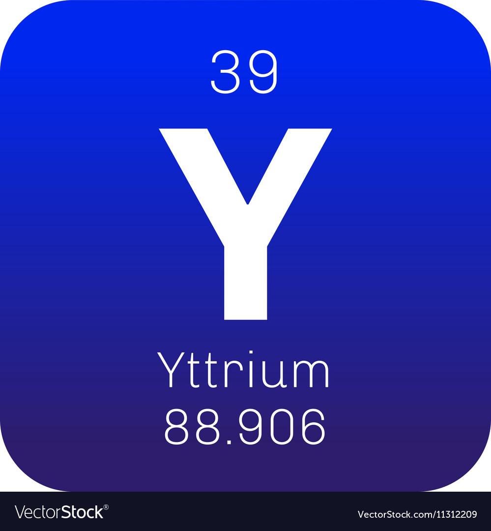 Yttrium Chemical Element Royalty Free Vector Image