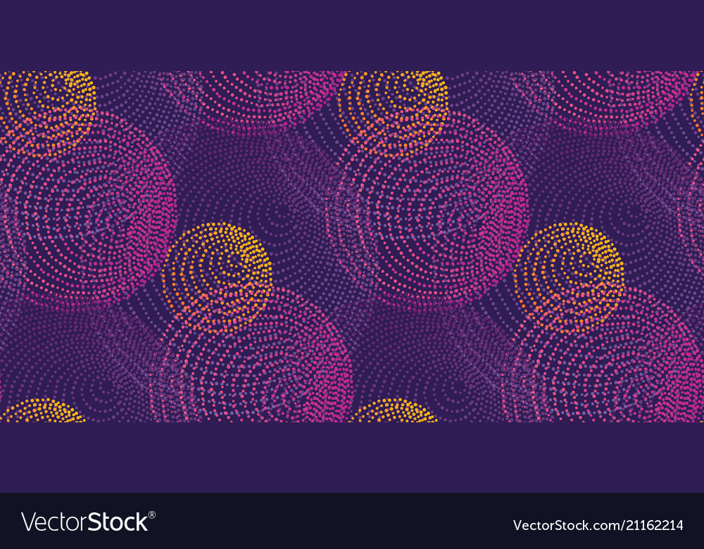 Abstract dots circles seamless pattern
