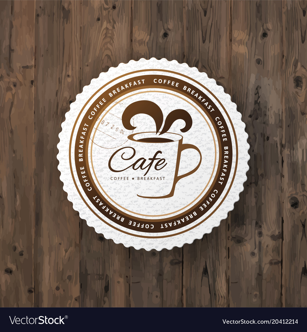 Cafe round sign vector image