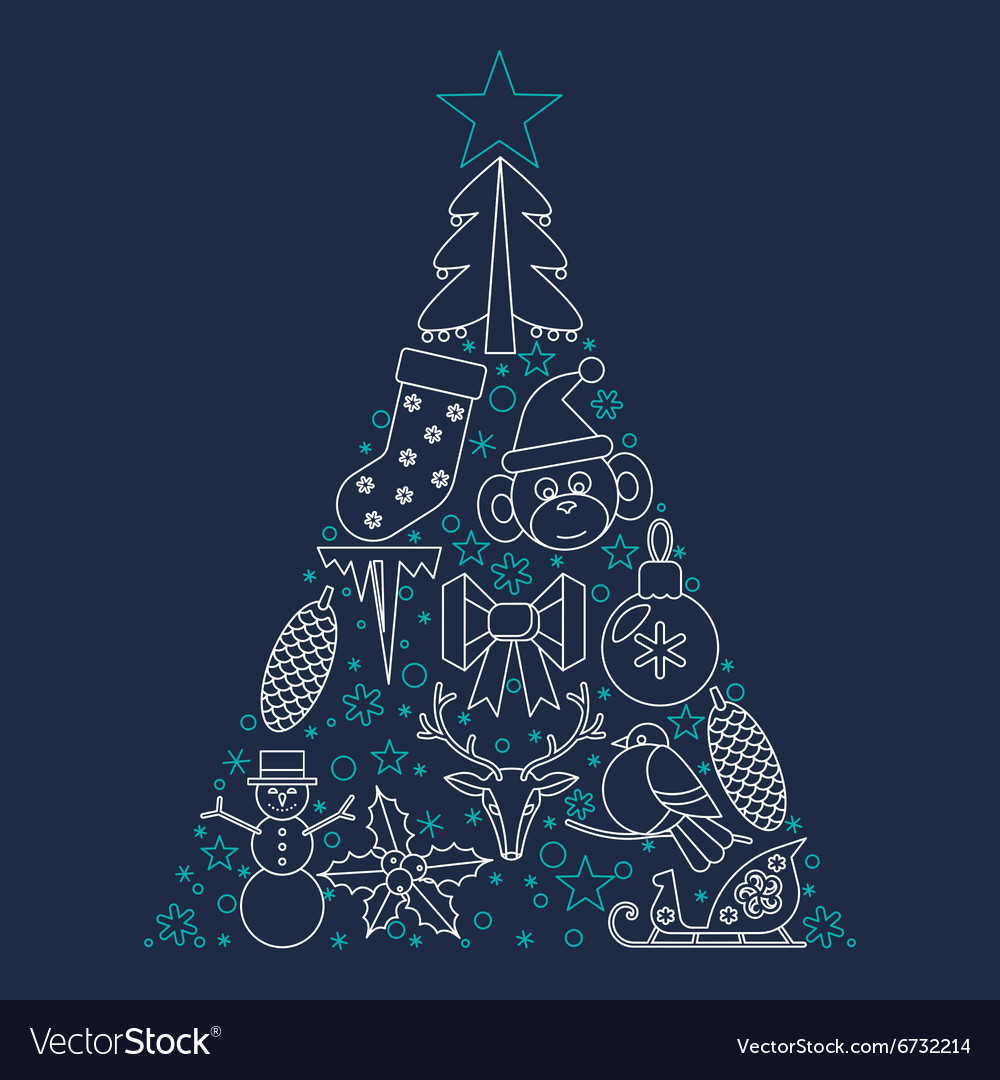 Christmas decoration and vector image