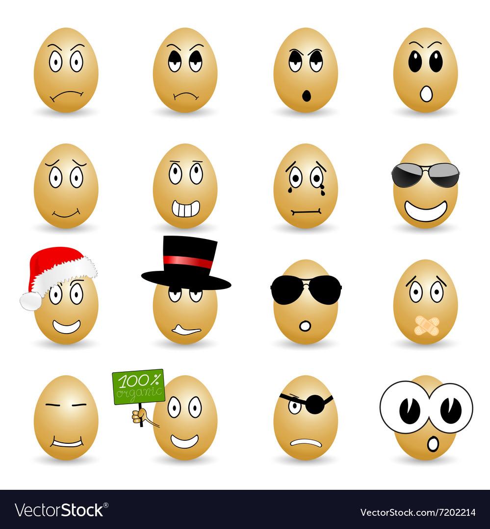 Egg set cartoon vector image