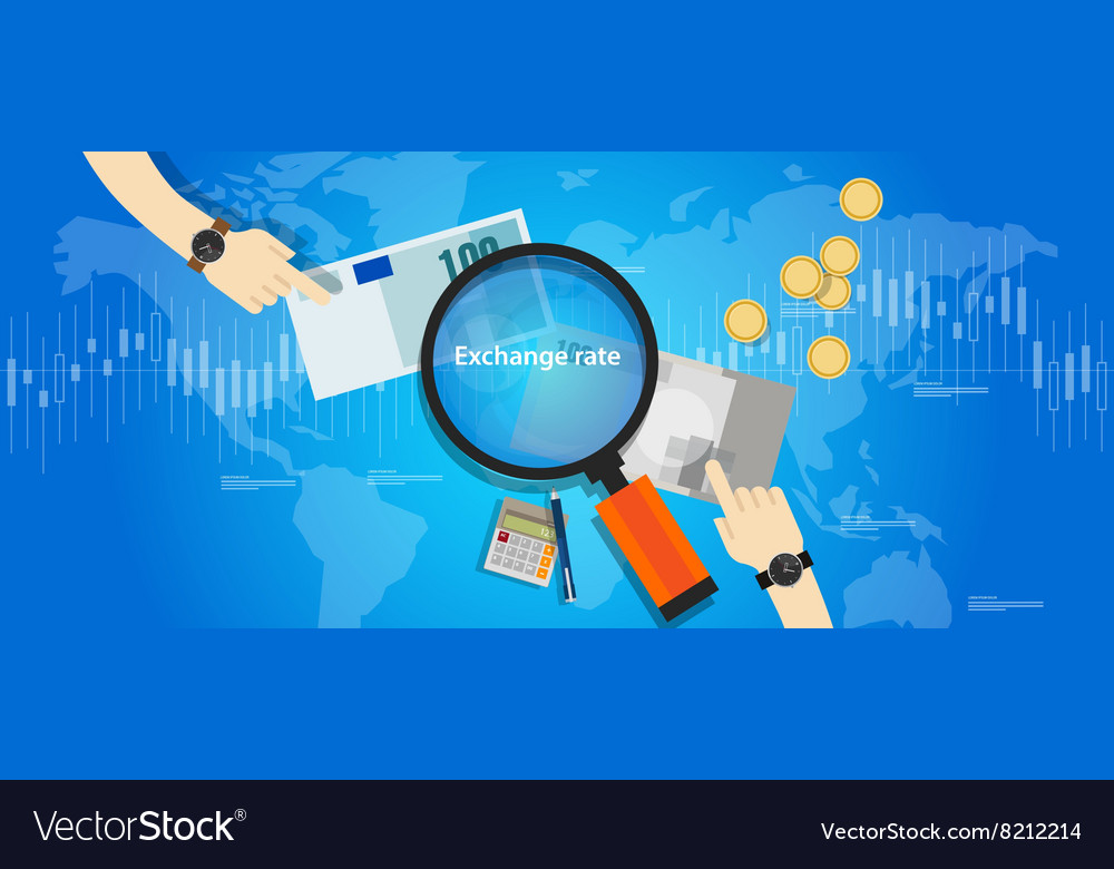 Money exchange rate market currency price curs vector image