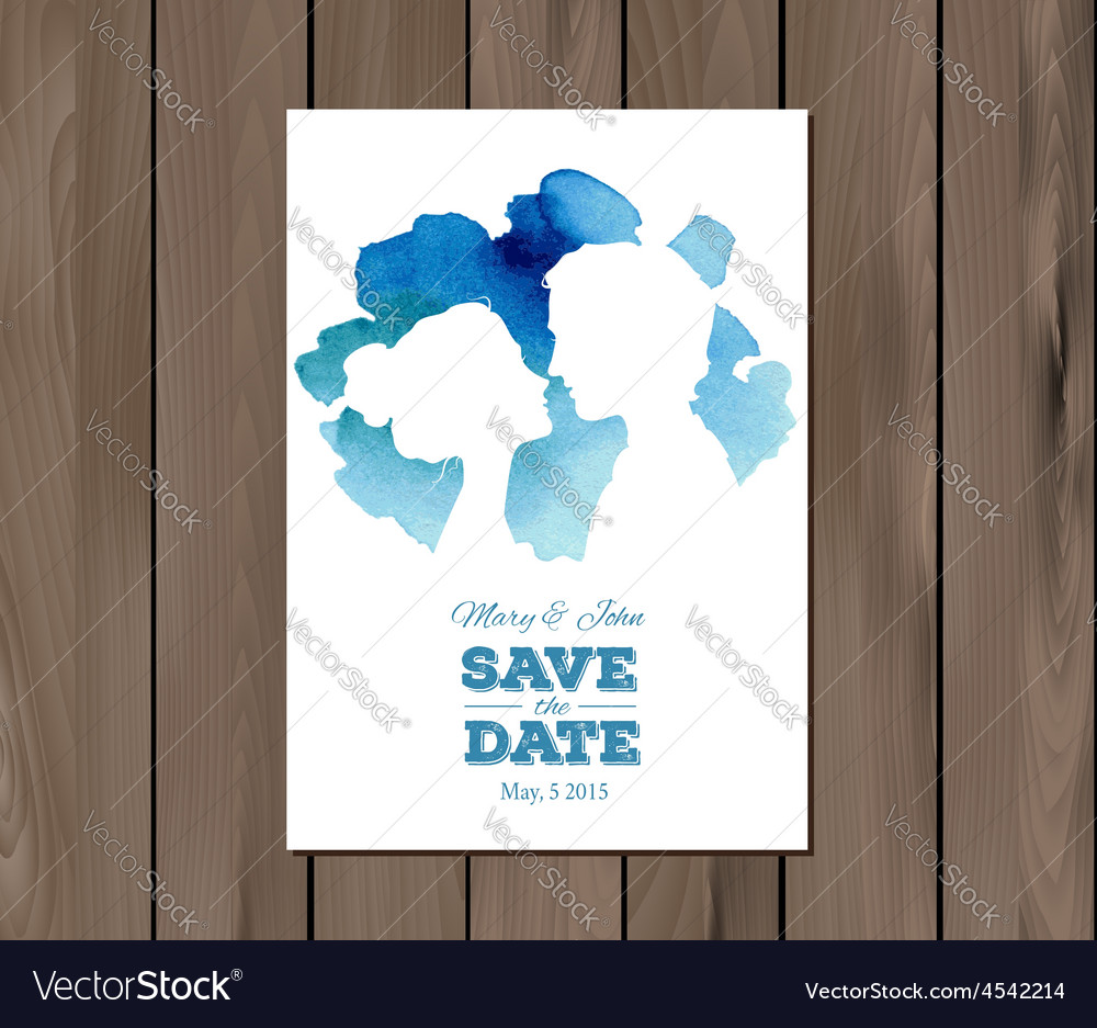 Save the date wedding invitation with