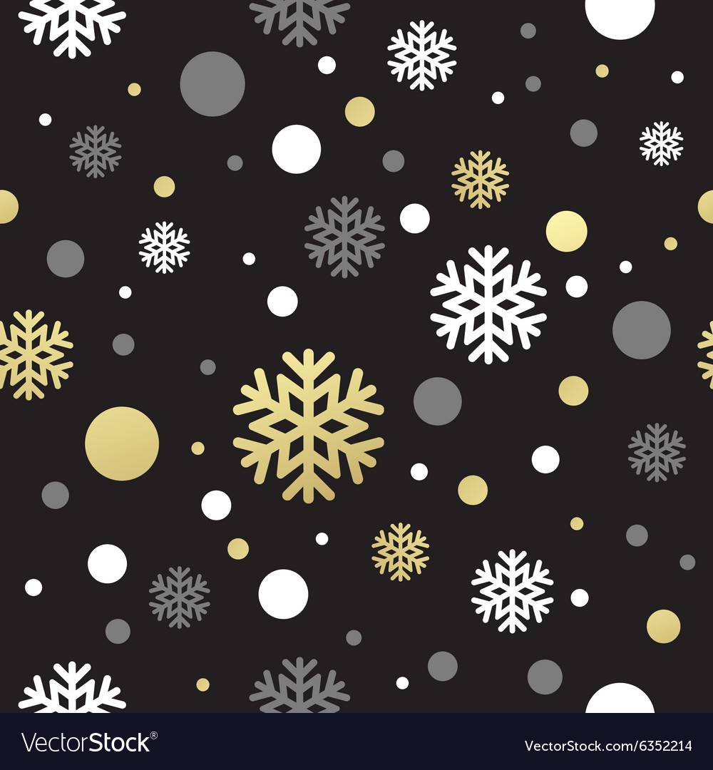 Seamless black christmas wallpaper with white and