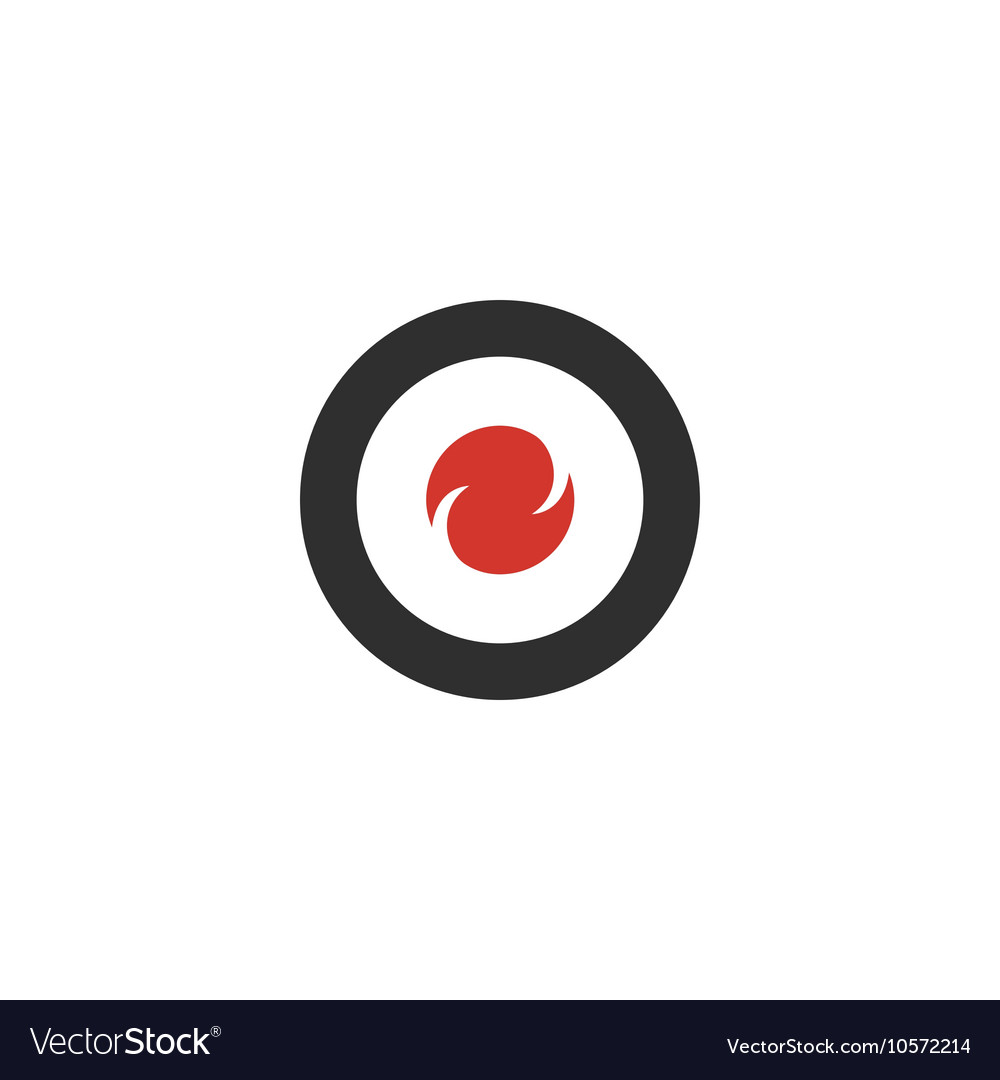 Target icon isolated on a white background