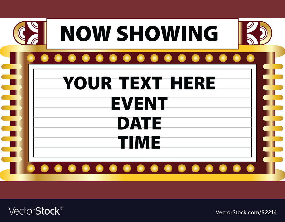 Theater marquee sign