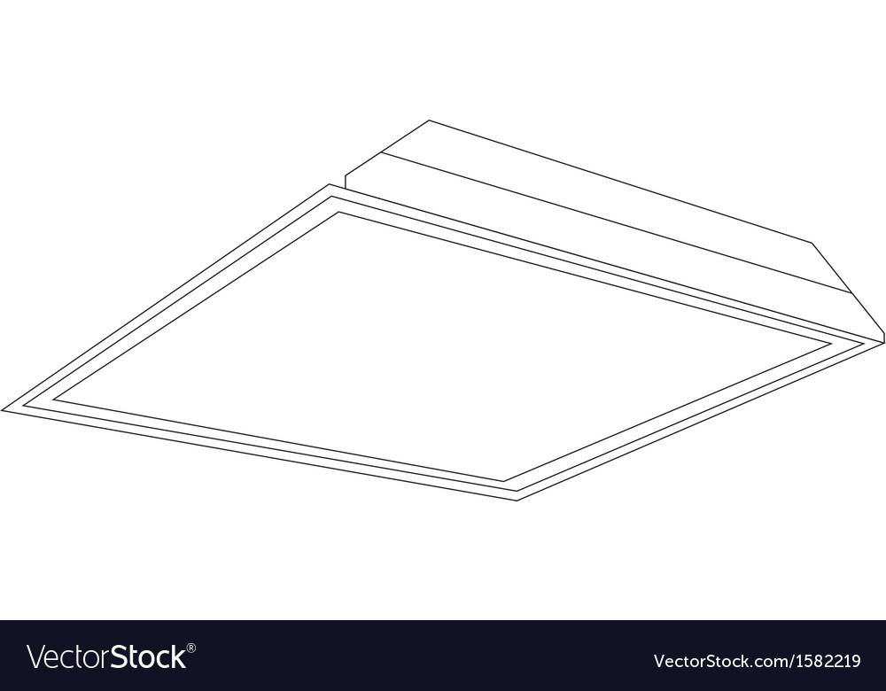 2x2 ceiling panel light image