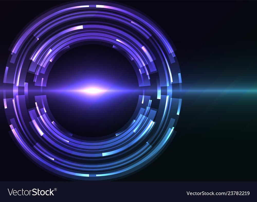 Blue purple circle digital eye abstract sheet laye