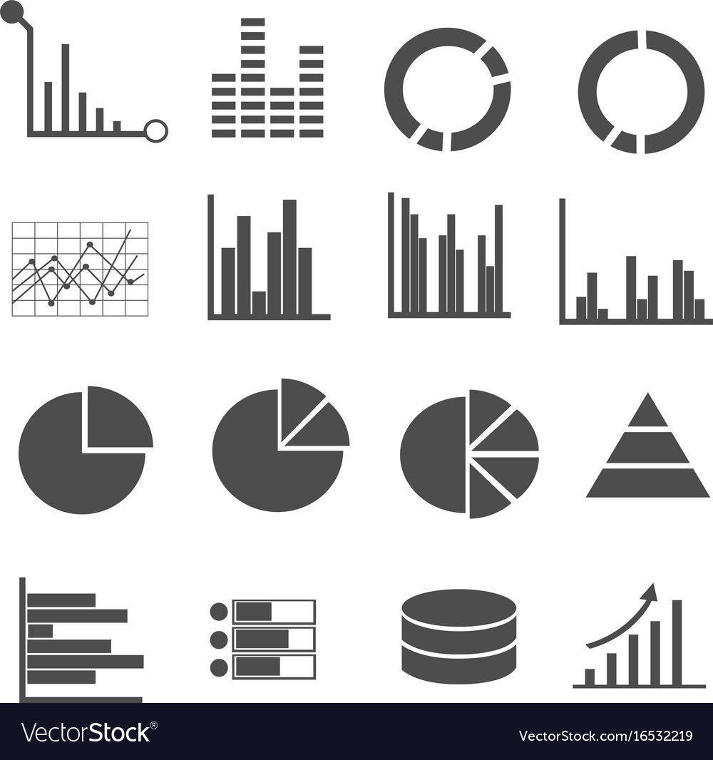 Business data icons set