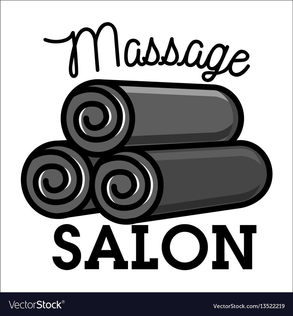 Color vintage massage salon emblem