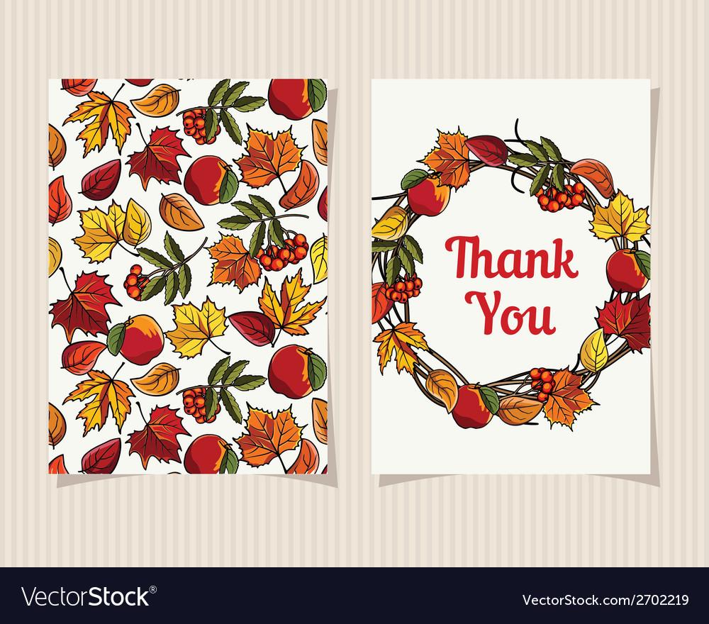 Decorative card Thank You