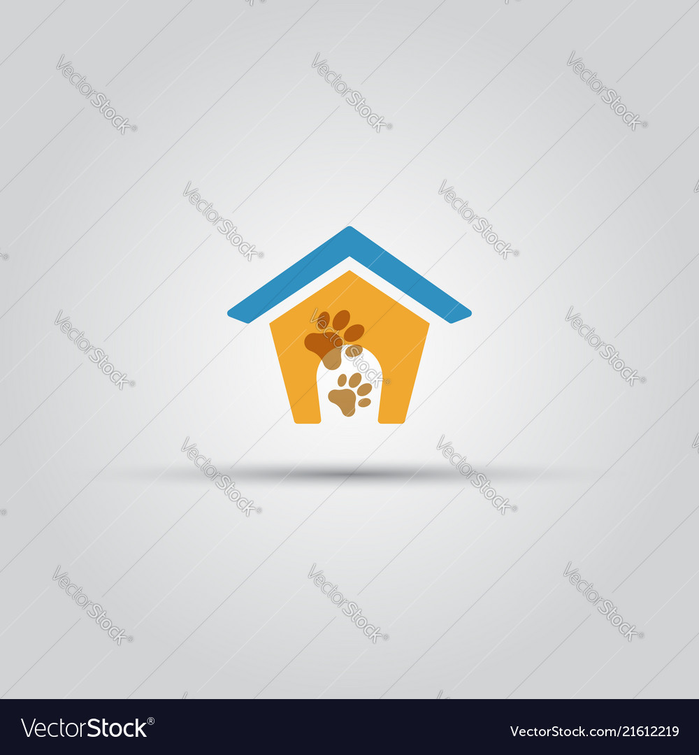 Dog house isolated colored icon