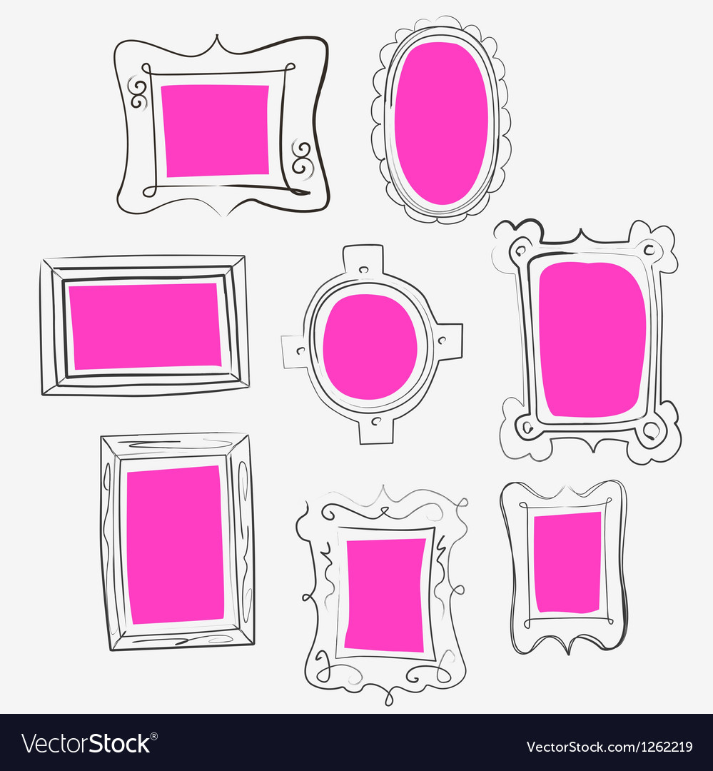 Fun pink frames Royalty Free Vector Image - VectorStock