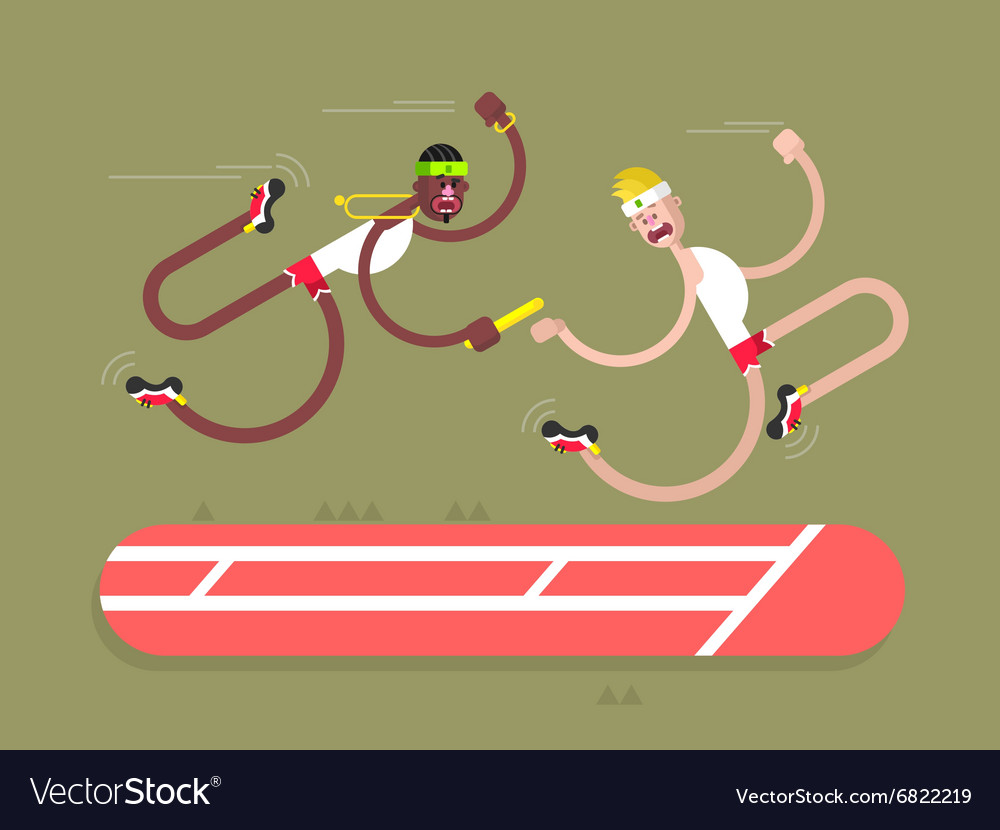 Relay athletics design vector image