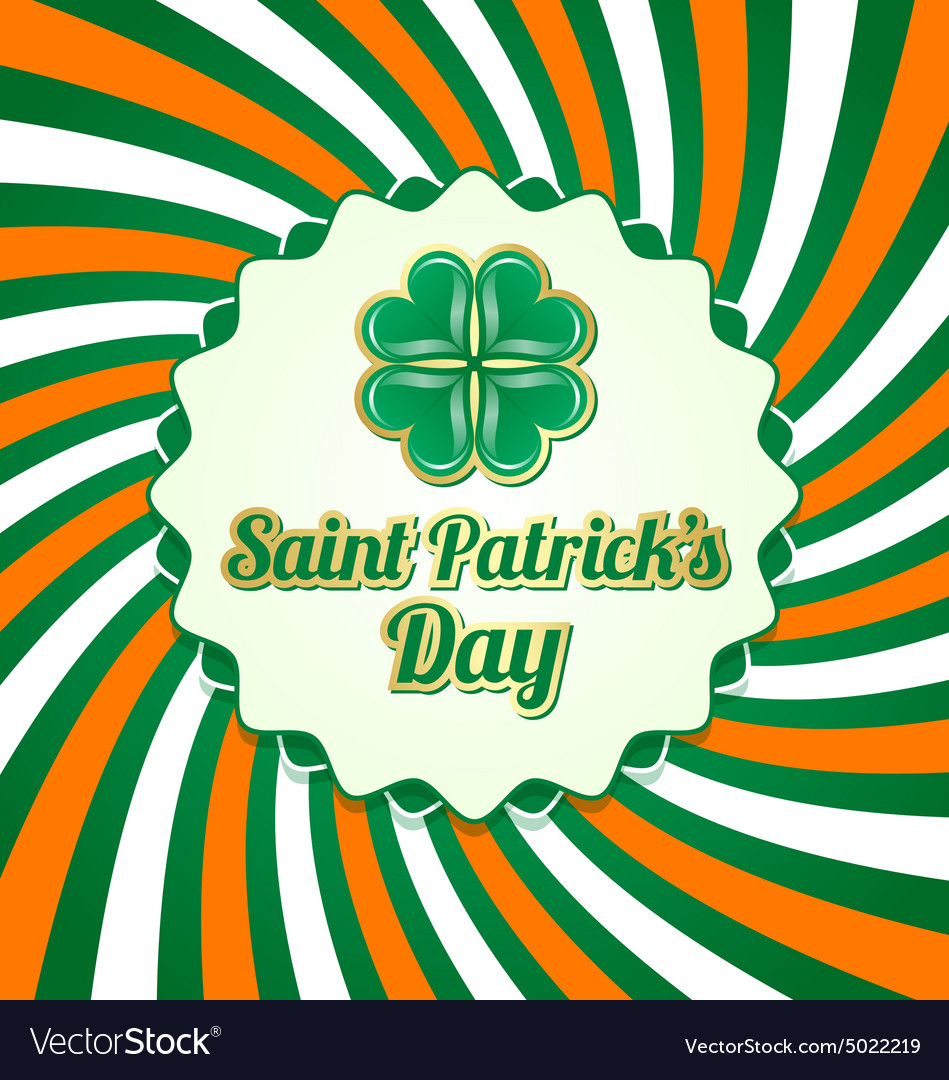 Saint Patricks Day badge