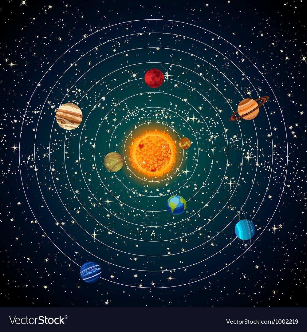 solar system vector - photo #10