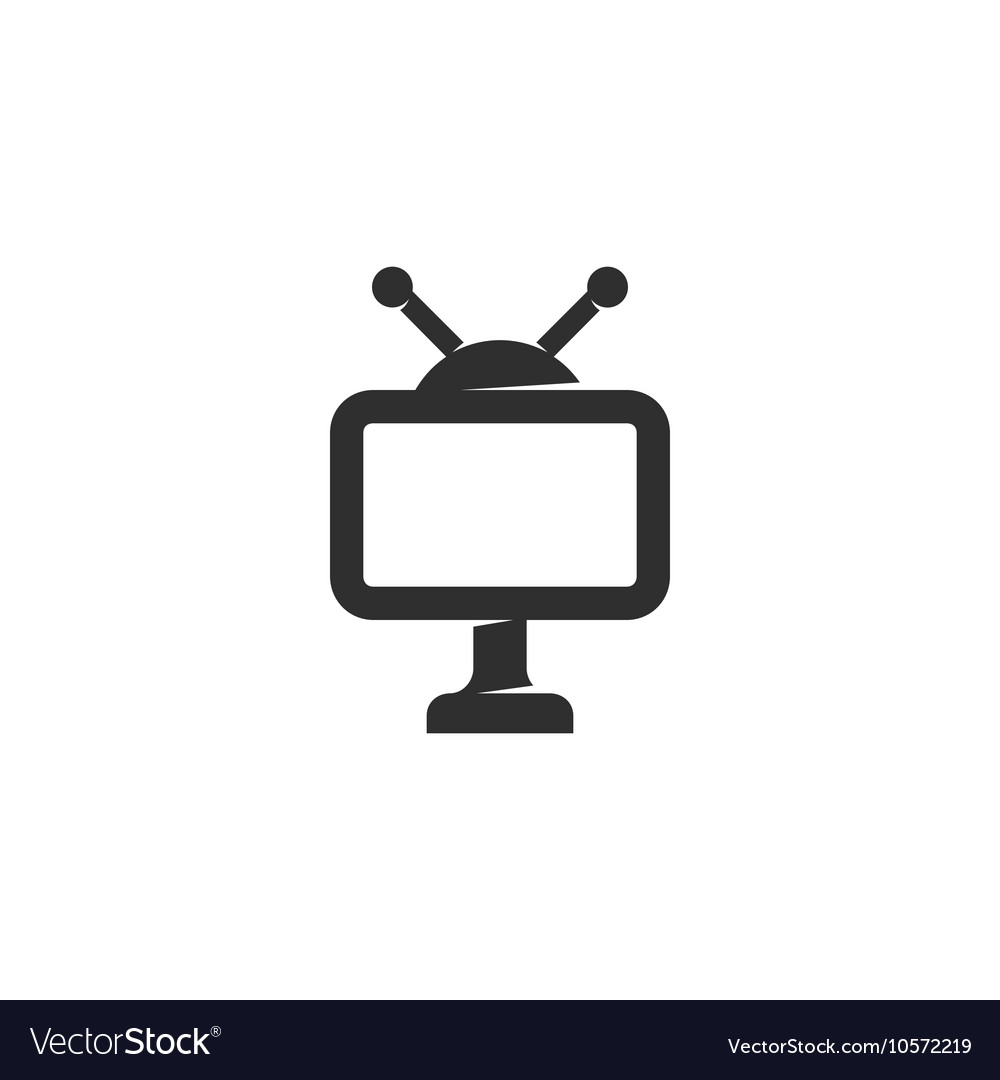 TV icon isolated on a white background vector image