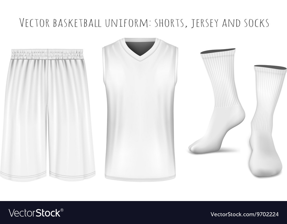Basketball uniform templates Royalty Free Vector Image