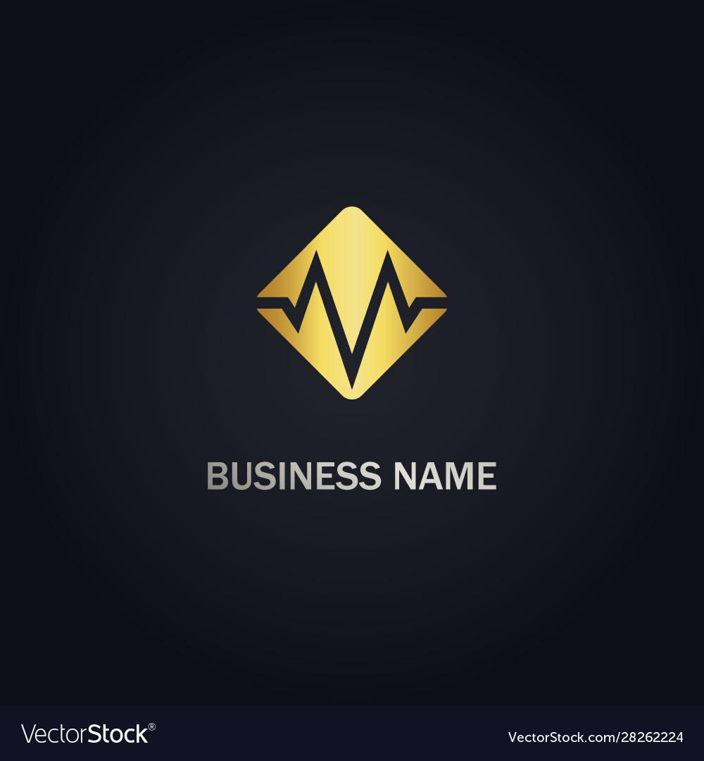 M initial square company logo