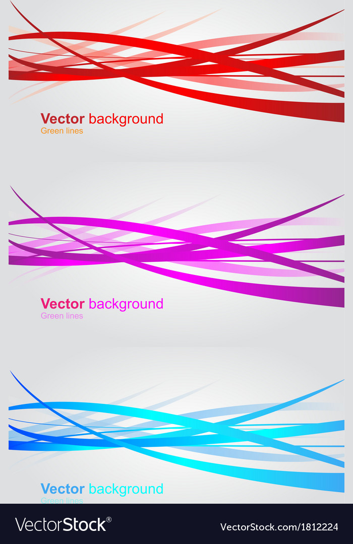 Set of wavy banners Abstract background