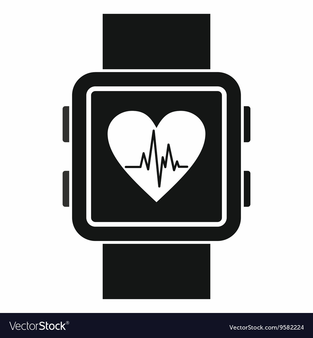Smartwatch icon simple style