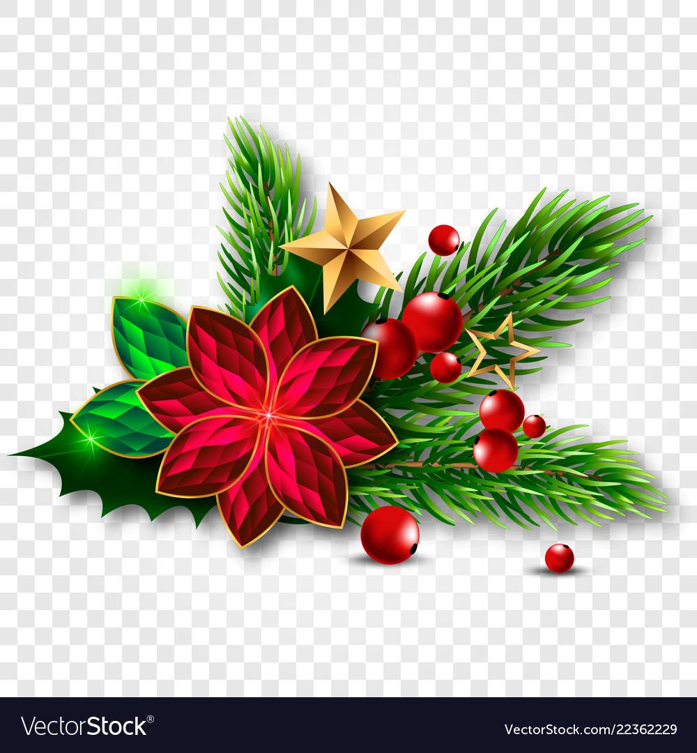 Christmas tree with mistletoe made of jewels