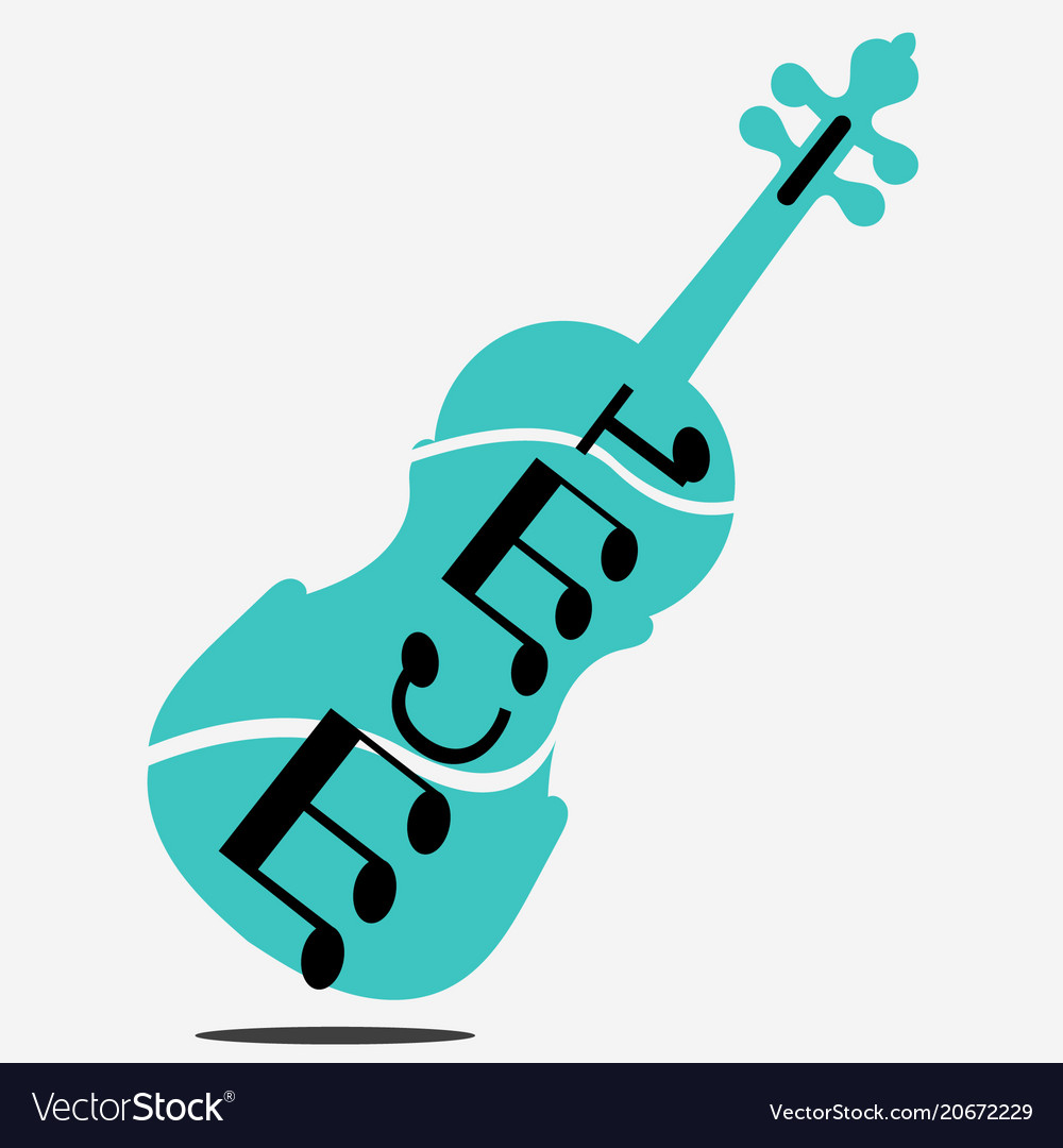 Free violin stock blue vector image